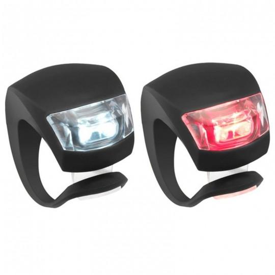Велофонарь передний+задний Knog Beetle TwinPack Red/White LED